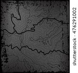 old dark grunge abstract... | Shutterstock .eps vector #476291002