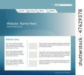 web site template vector | Shutterstock .eps vector #47629378