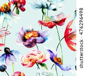 floral seamless pattern ...   Shutterstock . vector #476296498