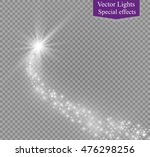 a bright comet with large dust. ... | Shutterstock .eps vector #476298256