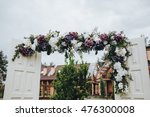 the arch is decorated for the... | Shutterstock . vector #476300008