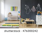 spacious baby room with... | Shutterstock . vector #476300242