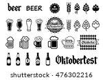 beer vector icons set   bottle  ... | Shutterstock .eps vector #476302216