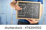 hand of a football coach... | Shutterstock . vector #476304502
