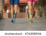 man and woman running together... | Shutterstock . vector #476308546