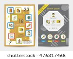 science icons set with long... | Shutterstock .eps vector #476317468