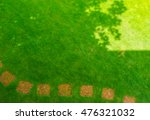 pathways with green lawns ... | Shutterstock . vector #476321032