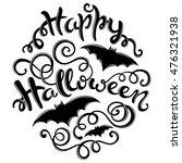 happy halloween card with hand...   Shutterstock .eps vector #476321938