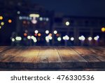 image of wooden table in front... | Shutterstock . vector #476330536