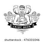 craft beer emblem. hipster...   Shutterstock .eps vector #476331046