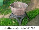 plastic waste basket are... | Shutterstock . vector #476345206