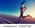 young fitness woman runner... | Shutterstock . vector #476347402
