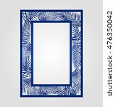 abstract cutout panel for laser ... | Shutterstock .eps vector #476350042