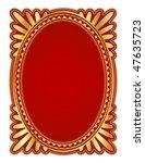 Elegant Oval Frame With...