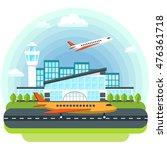 airport flat vector creative... | Shutterstock .eps vector #476361718