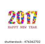 2017 happy new year greetings... | Shutterstock .eps vector #476362702