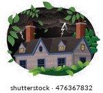 stormy night scene. | Shutterstock .eps vector #476367832