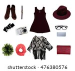 collage of women's clothes... | Shutterstock . vector #476380576