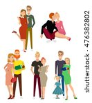 different kind of families.... | Shutterstock .eps vector #476382802