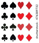set of playing card symbols ... | Shutterstock .eps vector #476389732