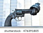 the gun for peace | Shutterstock . vector #476391805