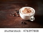 cup of cappuccino topped with... | Shutterstock . vector #476397808