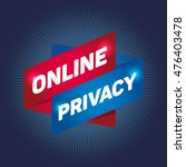 online privacy arrow tag sign. | Shutterstock .eps vector #476403478