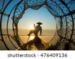 Fishermen In Inle Lakes Sunset...