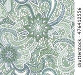 seamless paisley background.... | Shutterstock .eps vector #476412556