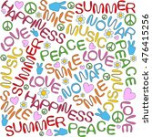 hand drawn fonts and symbols in ... | Shutterstock .eps vector #476415256