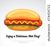 hot dog delicious food. vector... | Shutterstock .eps vector #476424712