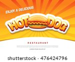 hot dog delicious food. vector... | Shutterstock .eps vector #476424796