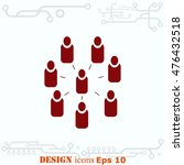 group of people icon  friends...   Shutterstock .eps vector #476432518