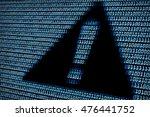 alert sign digital background | Shutterstock . vector #476441752