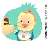 vector illustration of baby... | Shutterstock .eps vector #476444746