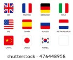 national flag square icon set | Shutterstock .eps vector #476448958