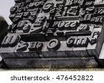 historical letterpress types ... | Shutterstock . vector #476452822