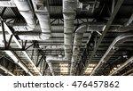 bare skin ceiling  show roof...   Shutterstock . vector #476457862