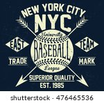 nyc baseball typography  t... | Shutterstock .eps vector #476465536