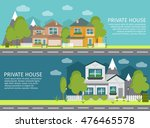 two horizontal colored and... | Shutterstock .eps vector #476465578