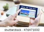 holiday reservation website... | Shutterstock . vector #476471032