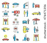 auto service and maintenance... | Shutterstock .eps vector #476471356