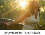 woman with open arms | Shutterstock . vector #476473606