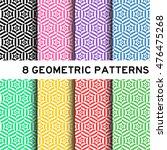 8 pastel color hexagon pattern | Shutterstock .eps vector #476475268