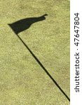 flag shadow on a golf field ... | Shutterstock . vector #47647804