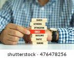 businessman building seo... | Shutterstock . vector #476478256