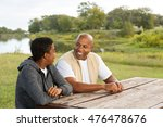 african american father and son ...   Shutterstock . vector #476478676