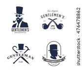 set of vintage gentleman...   Shutterstock .eps vector #476478862