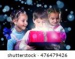 happy kids surprised to open a... | Shutterstock . vector #476479426