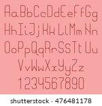thin line vector font. alphabet ...   Shutterstock .eps vector #476481178
